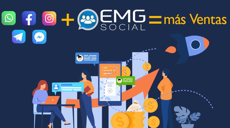 EMG Social que unifica todas las interacciones de esas aplicaciones de mensajería.
